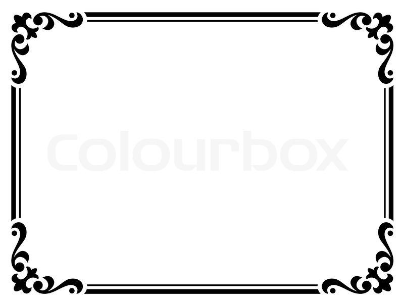 Rahmen, zeichnen, schmücken | Vektorgrafik | Colourbox