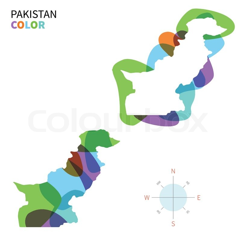 Abstract vector color map of Pakistan       Stock vector
