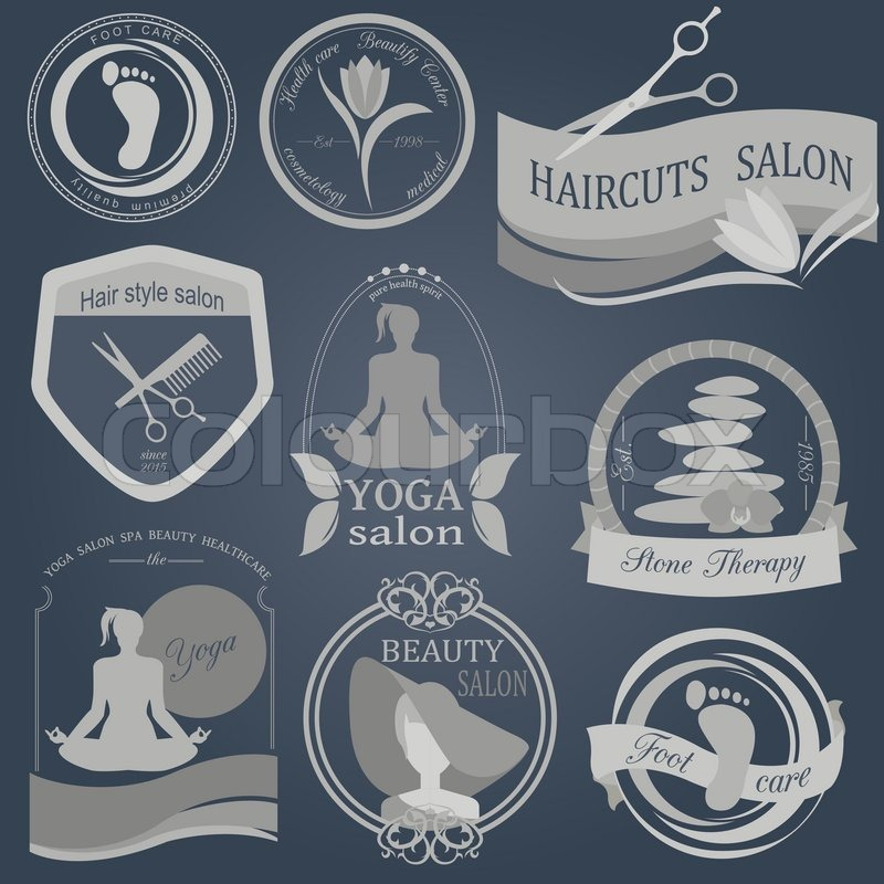 Set Of Vintage Hairstyle Body Care Stock Vector Colourbox