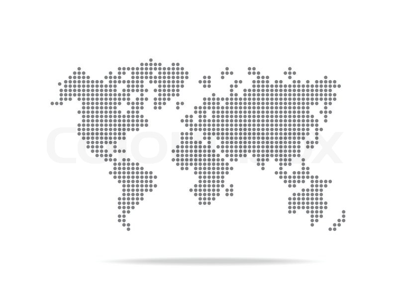 Dot World Map.Dot World Map Isolated On The White Stock Vector Colourbox