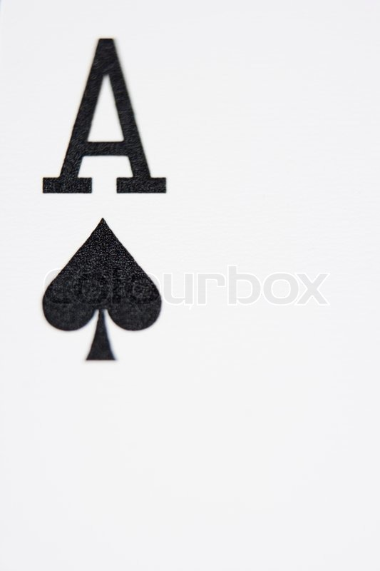 Close Up Of Ace Of Spades Playing Card Stock Photo Colourbox