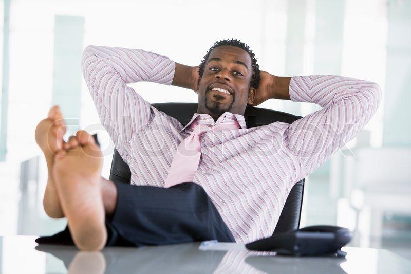 Feet Up, Relaxing, Desk