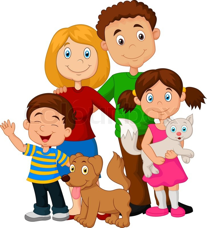 Nuclear Family Clipart Vector illustration of...