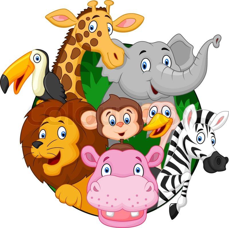 Stock vector of 'Vector illustration of Cartoon safari animals'