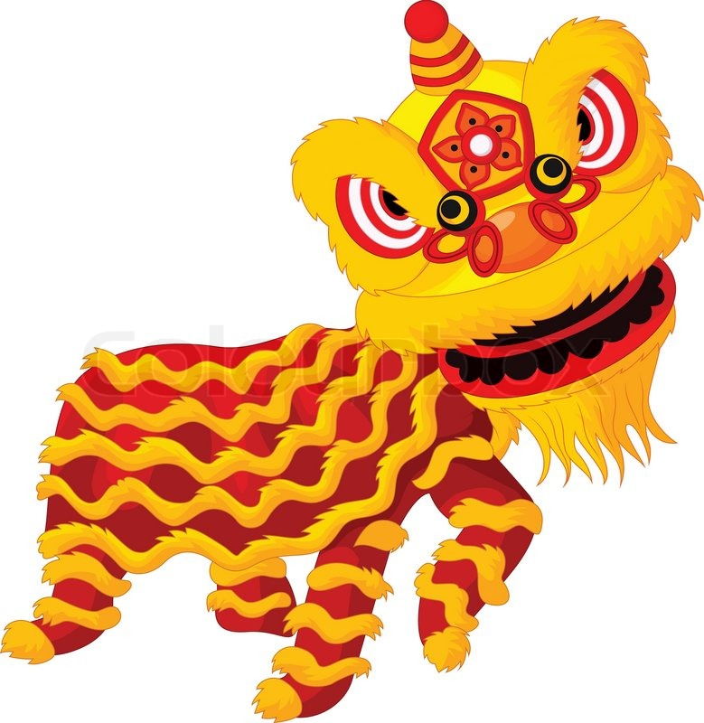Chinese Lion Dance Vector Chinese Lion Dancing 39