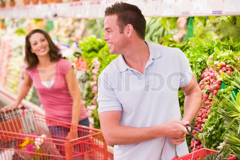Flirten supermarkt