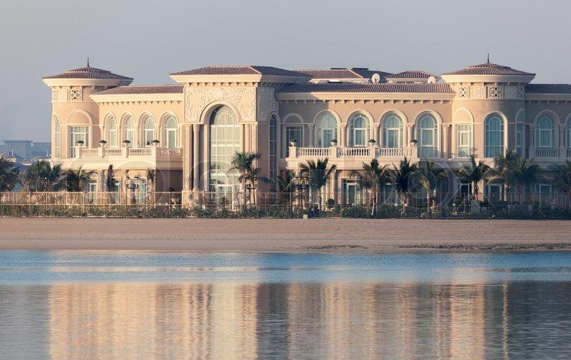 DUBAI, UAE - DEC 13: Luxury Villa at the Palm Jumeirah, Dubai. December 13, 2014 in Dubai, United Arab Emirates, stock photo