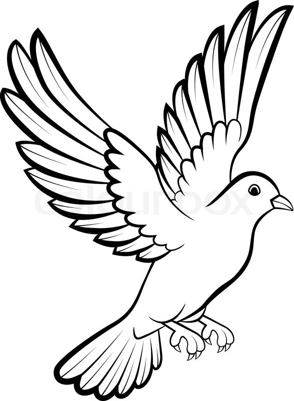 vector illustration of cartoon dove birds logo for peace concept and wedding design stock. Black Bedroom Furniture Sets. Home Design Ideas