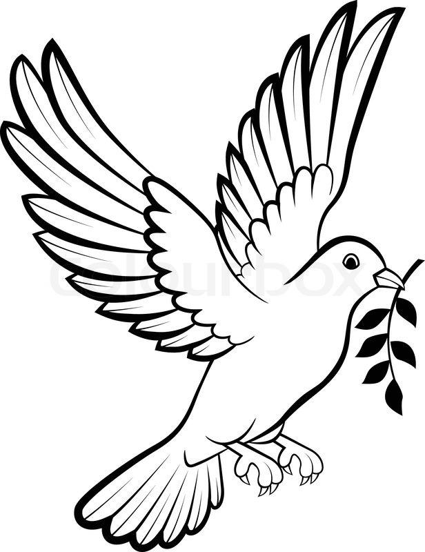 vector illustration of cartoon dove stock vector. Black Bedroom Furniture Sets. Home Design Ideas