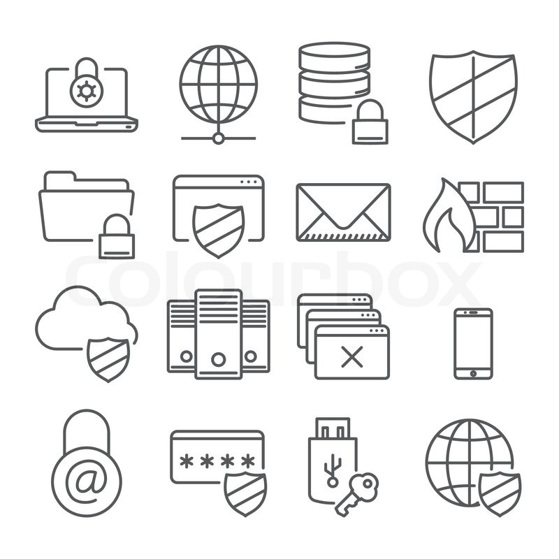 information technology security icons