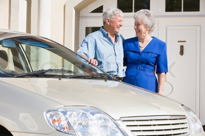 Couple Life Insurance Quotes: Senior Couple Standing Next To Car Outside House