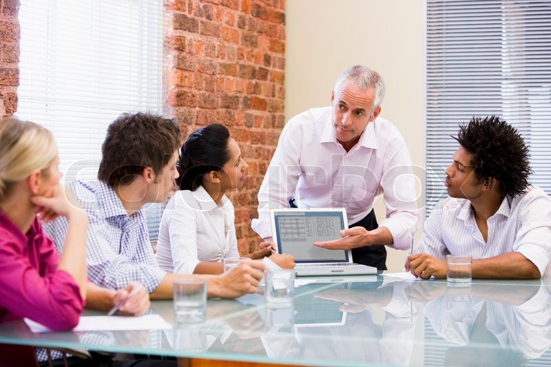Stock image of 'meeting, office, business people'