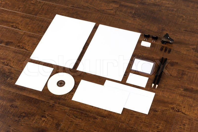 Photo. Template for branding identity. For graphic designers presentations and portfolios, stock photo
