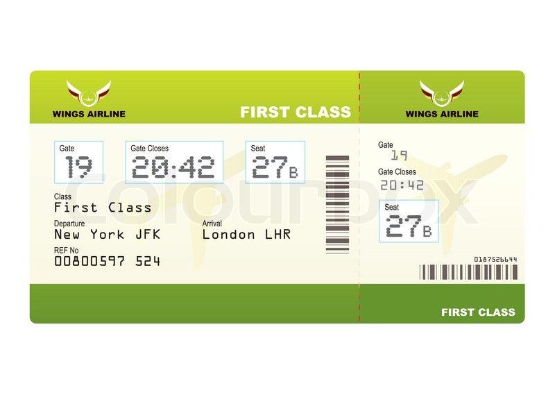 Class Plane Plane Ticket First Class Green