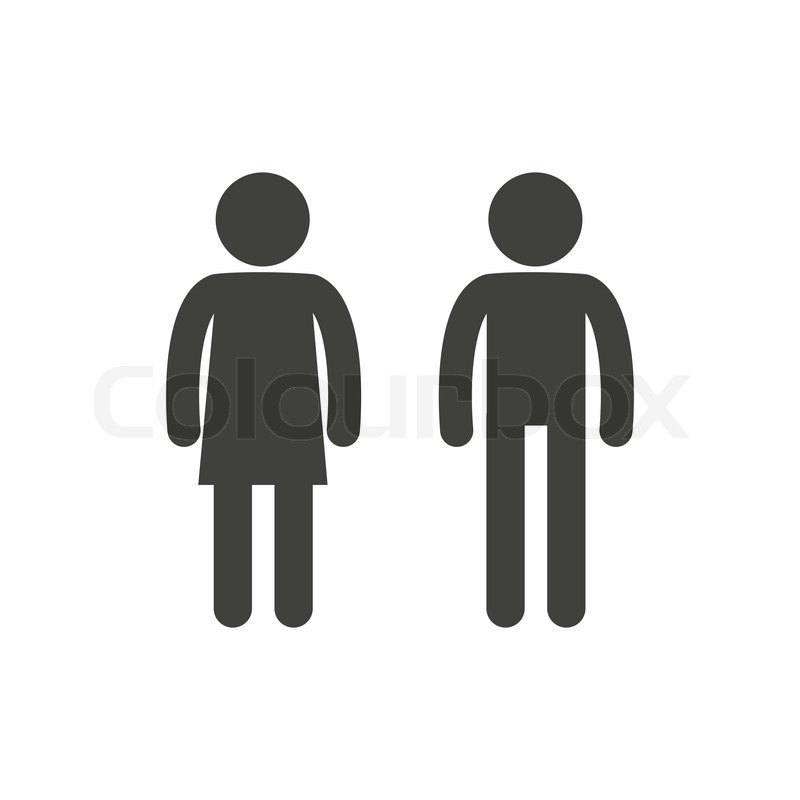 Vector Illustration Male And Female Pictogram For Restroom Symbol