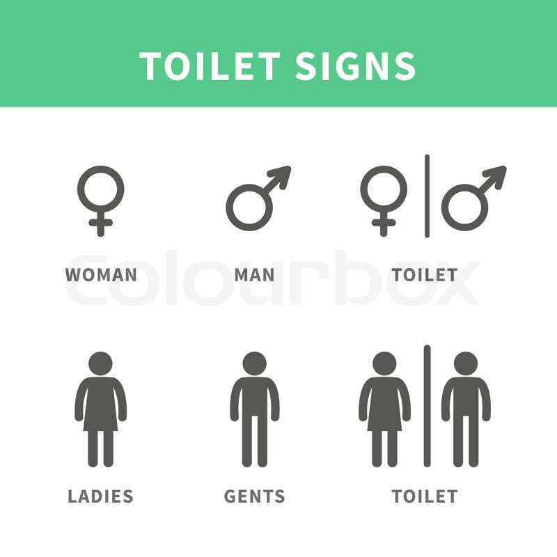 Vector Illustration Male And Female Pictogram For Toilet