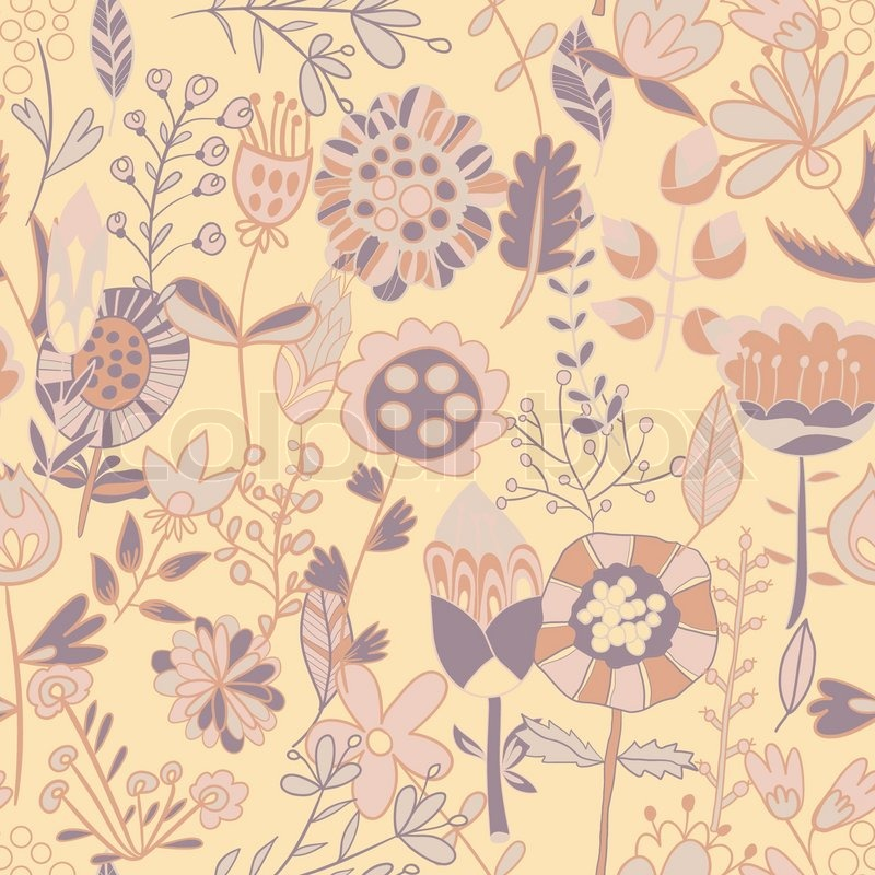 Flower Pattern Seamless Texture Endless Floral Can Be Used For Wallpaper Backdrop Surface Textures Full Color