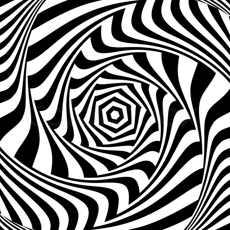 Op Art Designs : Illusion of vortex movement abstract op art design