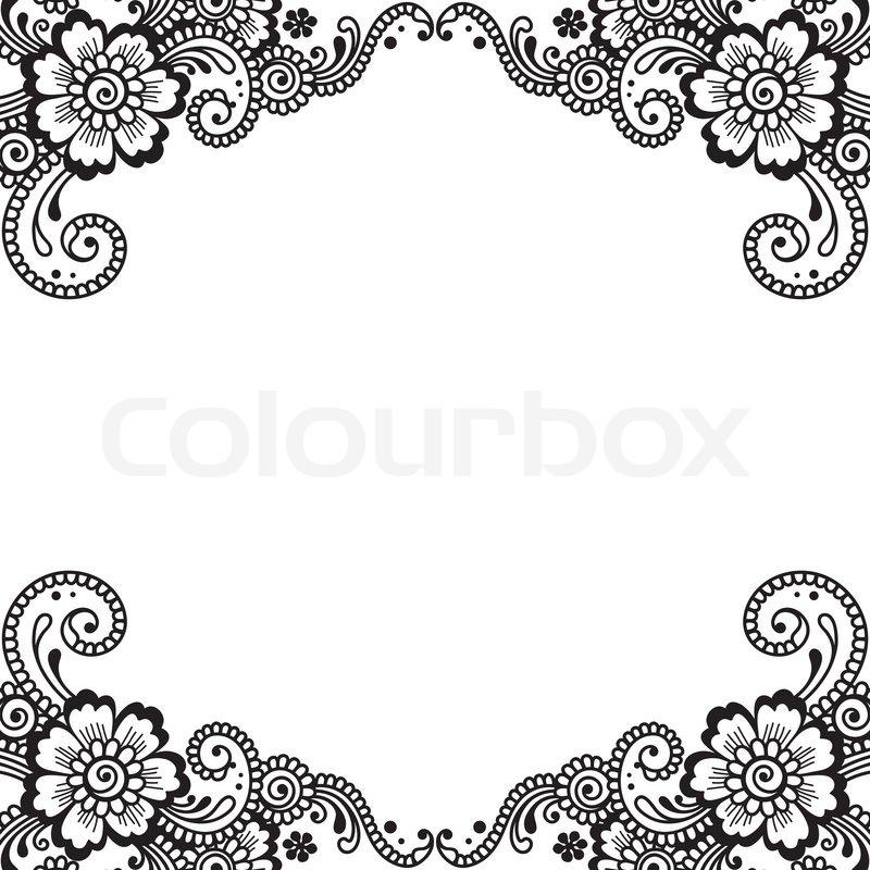 white flower corner lace ornament stock vector colourbox white flower corner lace ornament