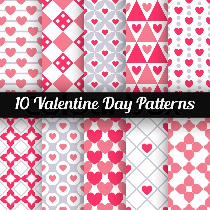 10 heart shape vector seamless patterns pink color endless texture 10 heart shape vector seamless patterns pink color endless texture can be used for printing onto fabric and paper or scrap booking stopboris Image collections