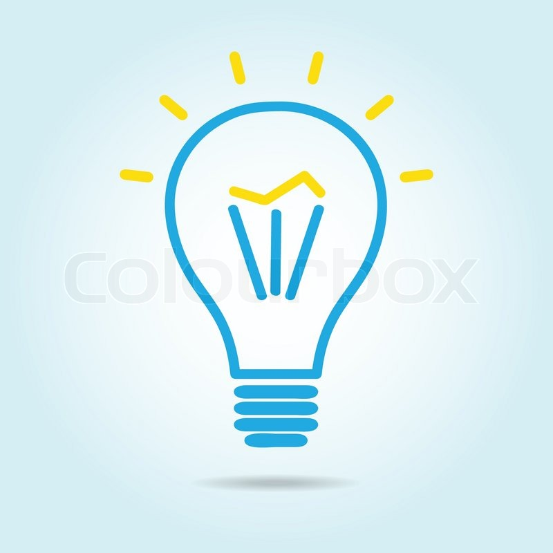 Light bulb logo icon drawn in the manual. | Stock Vector ...