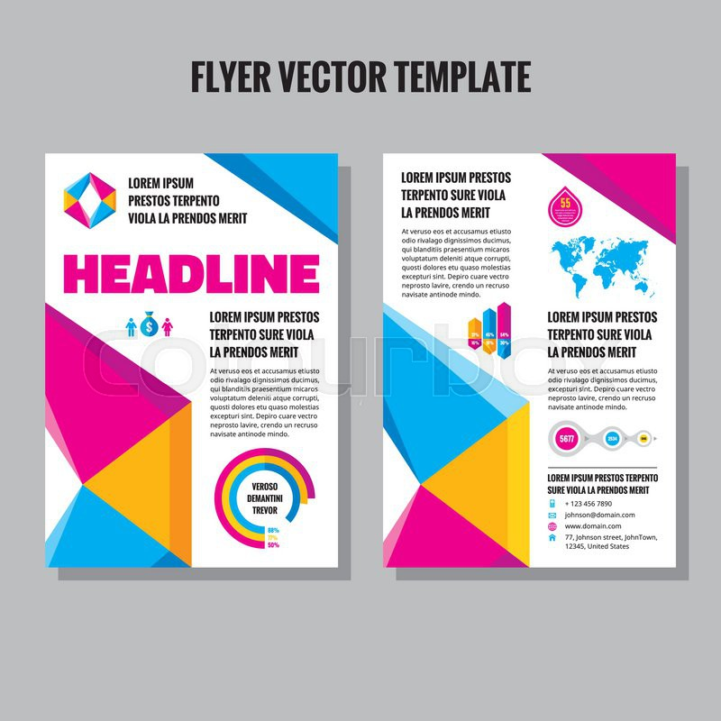 Abstract Geometric Brochure Vector Template Flyer Vector Template