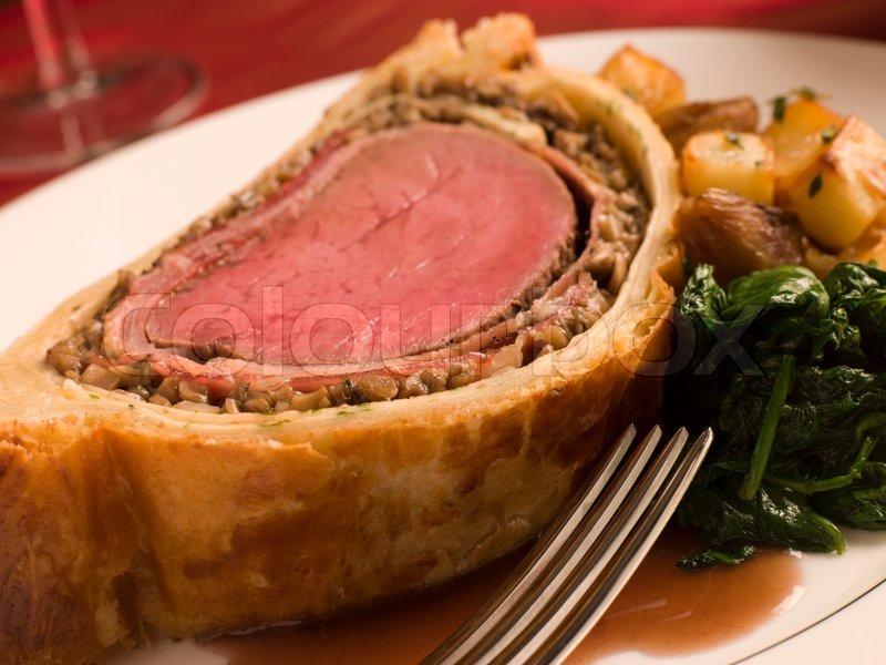 Beef wellington for Christmas dinner | Stock Photo | Colourbox