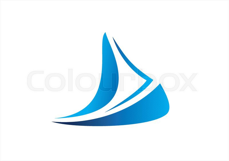 Sailboat Cruise Business Logo Boat Icon Wind Sea Travel Symbol