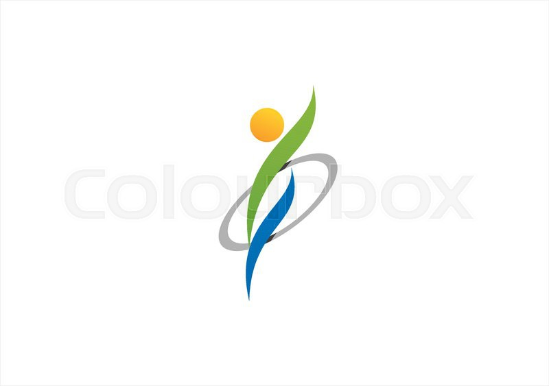 wellness circle health people logo symbol icon design vector stock