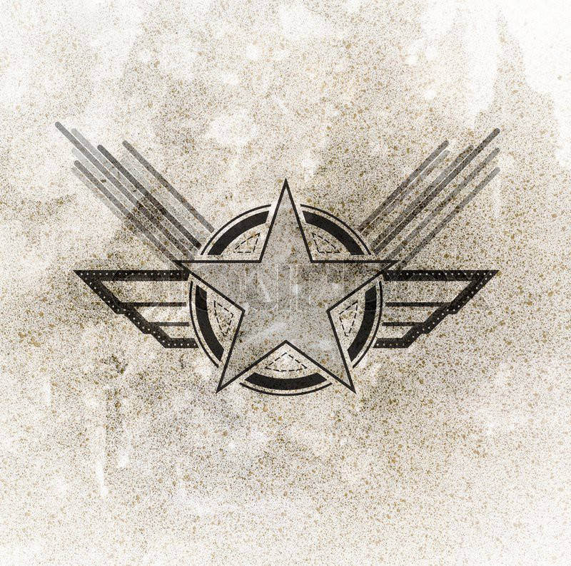 Air Force Military Symbol On Grunge Background Stock Photo Colourbox