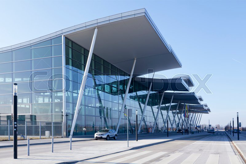 Wroclaw airport terminal in Poland | Stock Photo | Colourbox