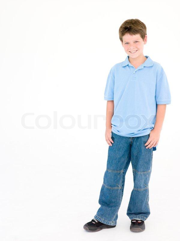 standing child boy stock photo colourbox
