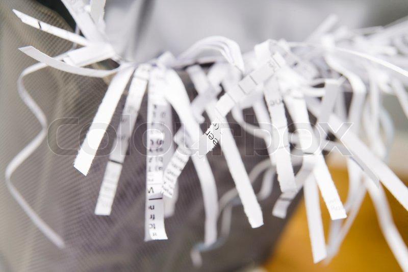 Stock image of \'shredder, paper, shredded\'