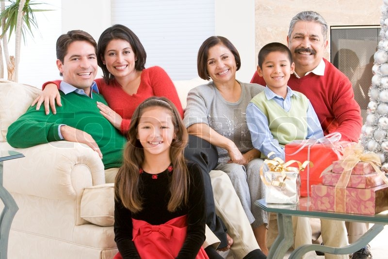A Latin American Family Celebrating Christmas