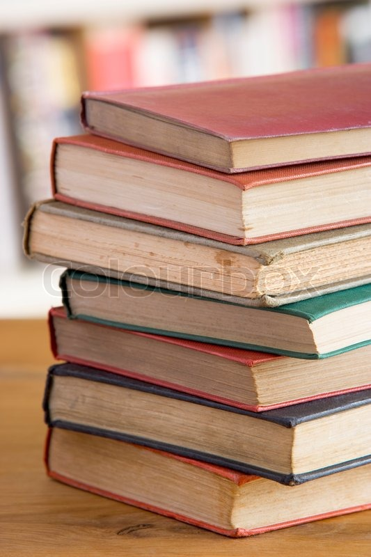 Stock image of \'book, stack, medium group of objects\'
