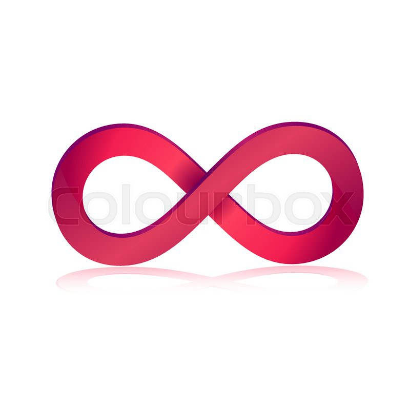 Pink Infinity Symbol In 3d Vector Illustration Stock Vector