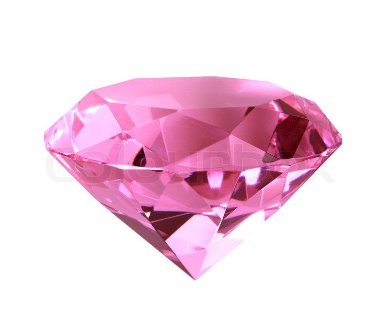 singe rosa kristall diamant close up isoliert auf wei em. Black Bedroom Furniture Sets. Home Design Ideas