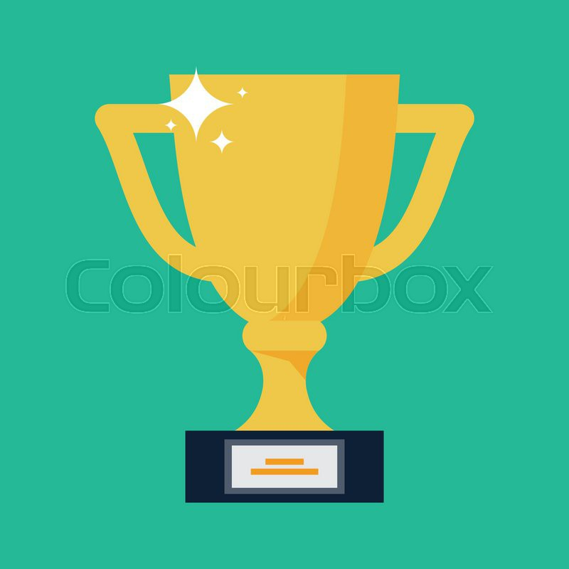Vector Trophy Cup Flat Icon | Stock Vector | Colourbox