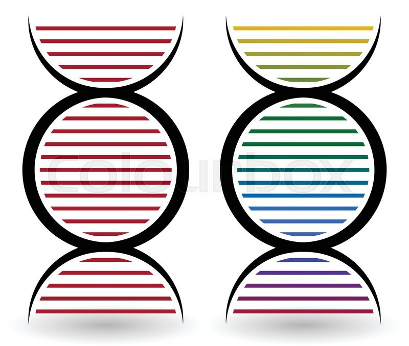 Vector Illustration Of A Set Of Simple Symbols Of Deoxyribonucleic
