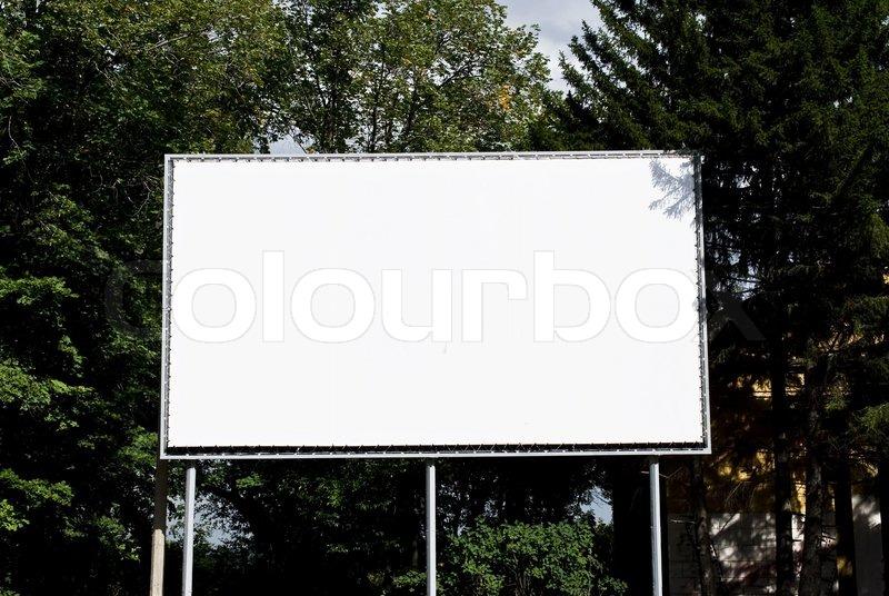 Empty billboard on background wood, stock photo