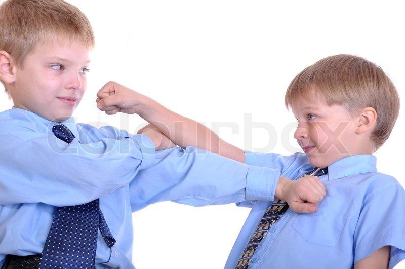 Bokse Kid Skolekammerater Stock Foto Colourbox