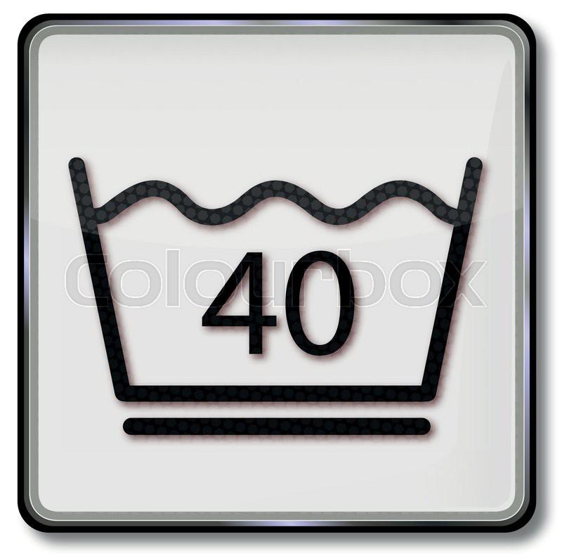 textilpflegesymbol pflegeleicht waschen 40 grad celsius waschen und schonendes schleudern. Black Bedroom Furniture Sets. Home Design Ideas