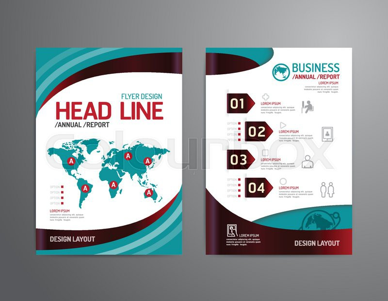 Vector Brochure Flyer Magazine Cover Booklet Poster Design Templatelayout Business Technology Annual Report A4 Size