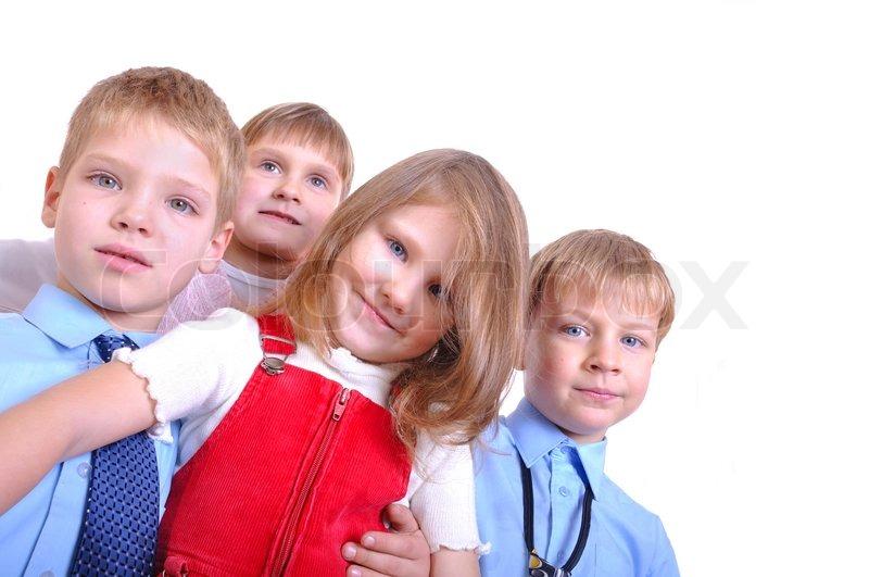 Gruppe von happy kids 3-7 Jahre zusammen | Stock Bild