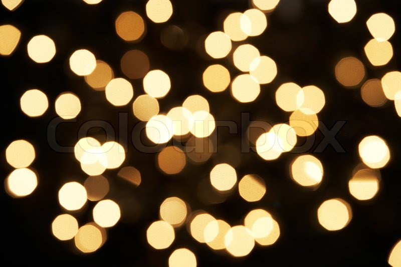 Abstract View Of White Christmas Tree Lights
