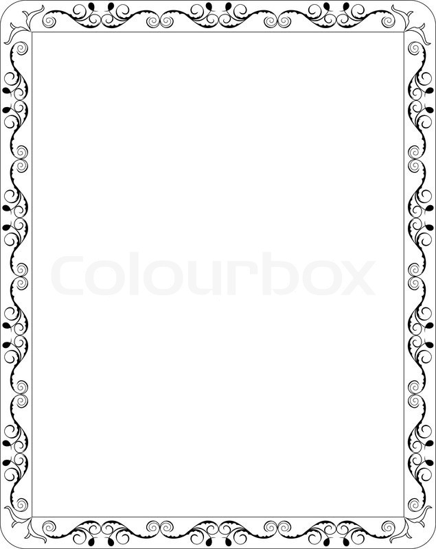 Baseball page border clipart best - Illustration Blank Floral Frame Border Vector Stock
