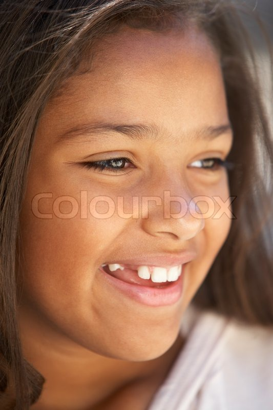 Teenage Caucasian Girl15 Years Old Sitting Outdoors: Kids Portraits, Girl, Cheerful, Happy, ...