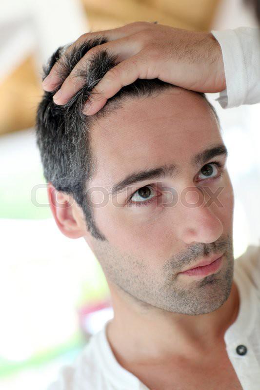 Лечение седых волос у мужчин