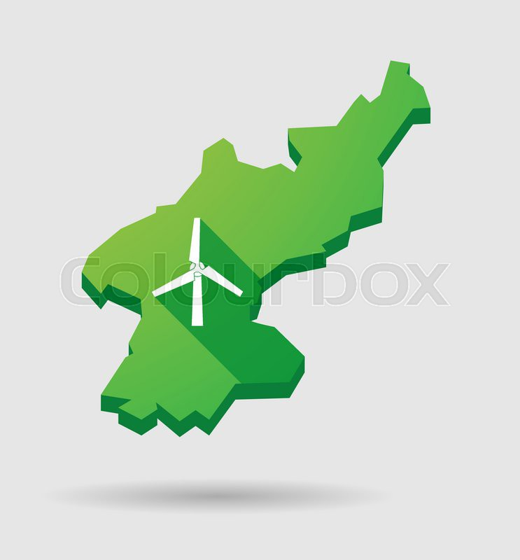 Illustration of a north korea map icon with a wind generator stock illustration of a north korea map icon with a wind generator vector gumiabroncs Image collections