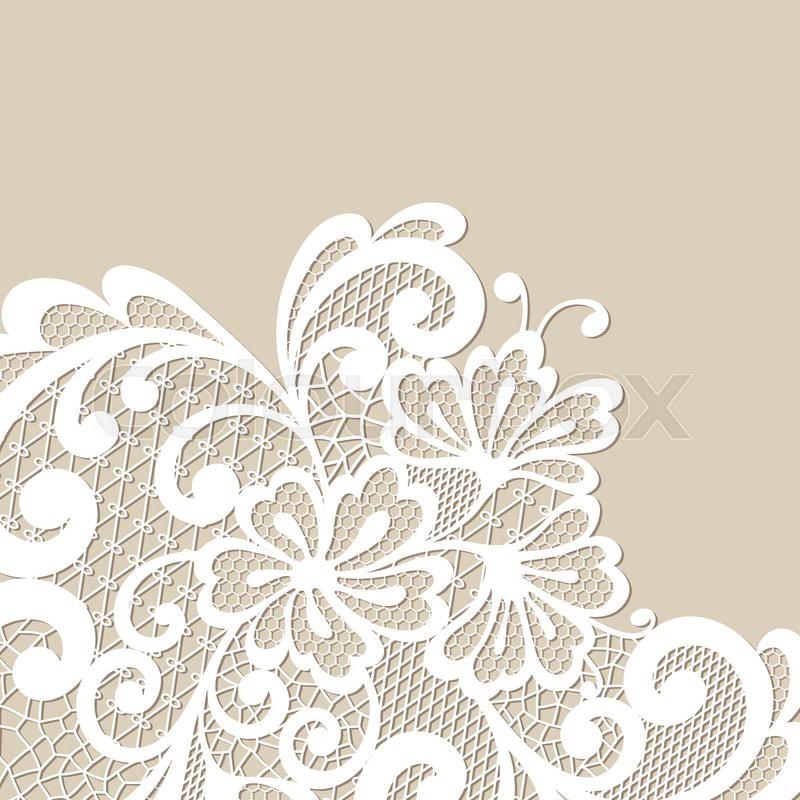vector ornament black lace corner stock vector colourbox rh colourbox com lace vector royalty free lace vector free